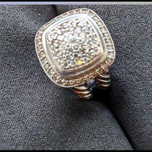 David Yurman 11mm Pave Diamond Albion Ring